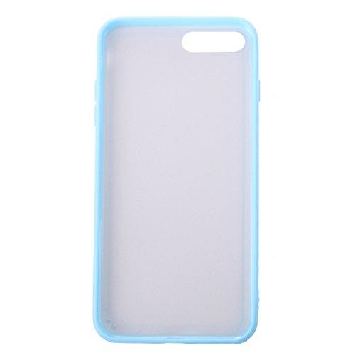 Custodia cover per aplle iPhone 7 plus Per la custodia protettiva in gomma per iPhone 7 Plus Feeling ,Copertura per iPhone 7 plus(2016) ( Color : Blue ) Blue