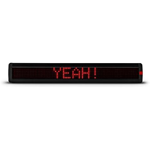 Lightcraft Times Square XL cartel LED luminoso (560 luces LED, amplio archivo de símbolos y efectos, mando a distancia incluido, 8 velocidades de texto, 86 x 18,8 x 11,4