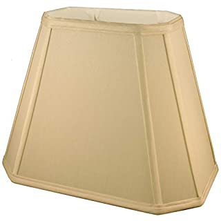 American Pride Lampshade Co. 72-78093212 Rectangle Soft Tailored Lampshade, Shantung, Honey