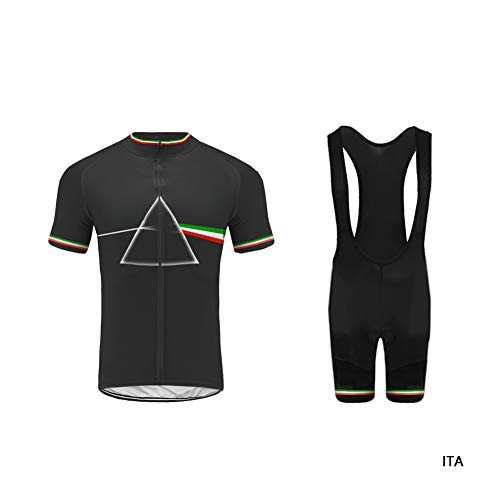 Uglyfrog Bike Wear Herren Radtrikot Set, Atmungsaktiv Quick-Dry Kurzarm Radsport-Shirt + Gel Gepolsterte Shorts