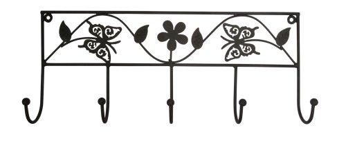 5 Haken Garderobe Schmetterling -