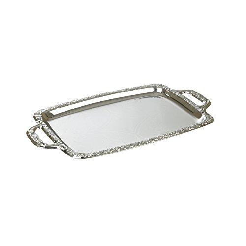 Plateada acabado efecto espejo bandeja para servir