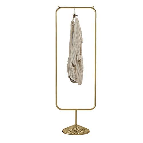 XJRHB Display Stand Display Stand Boden Kleiderbügel schwarz Kleiderständer Gold Silber Kleiderbügel (Farbe : Gold) Gold Stand