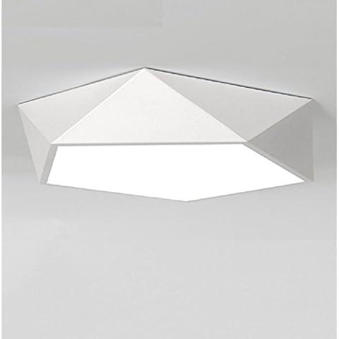 Ooccasion Moderno E Minimalista Di Luce A Soffitto Geometria Soggiorno Camera Da Letto Studio Aderente (Peltro Spazzolato Due Luce)