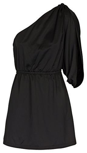Lipsy Tunika Longshirt Bluse Abendkleidung schwarz Schwarz