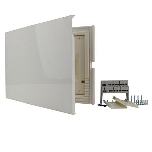40647 Kleinverteiler, Unterputz mit Tür, IP 30, 1-reihig