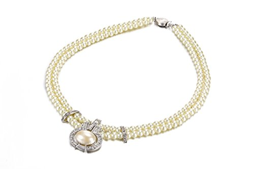 crystal-silver-diamantee-and-two-layer-faux-pearl-necklace-pendant-costume-fashion-jewellery
