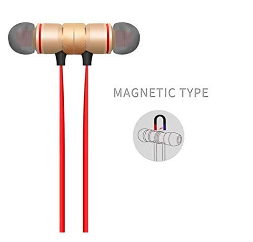 G S Goldstein Star Wireless Sports Bluetooth Magnet Earphone Hand-Free Headphone for All Smartphone (Pink) Image 3