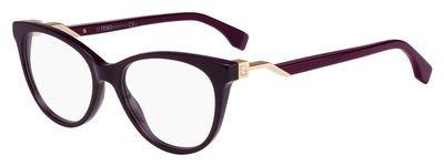 Fendi - FENDI CUBE FF 0201, Schmetterling, Acetat, Damenbrillen, WINE(5BR A), 52/17/140
