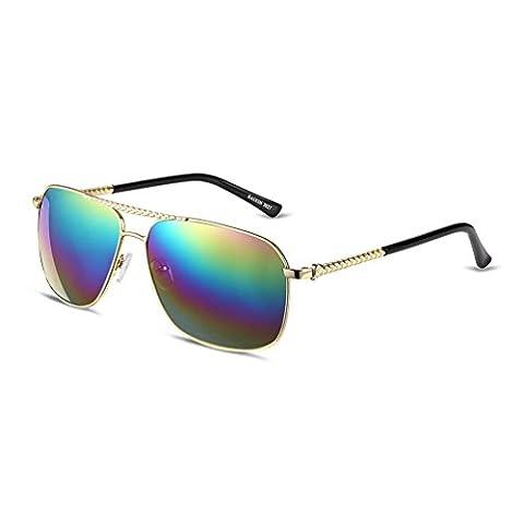 HMILYDYK Men's Inspired Driving Polarized Sunglasses Oval Round Flash Mirror Lenses Metal Frame UV400 Glasses