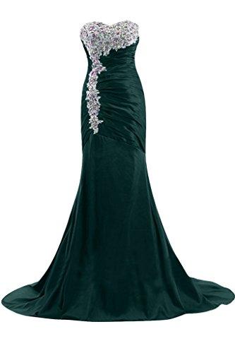 Gorgeous Bride Fashion Meerjungfrau Traegerlos Lang Taft Mit Schleppe  Abendkleider Festkleider Ballkleider Blau-Gruen