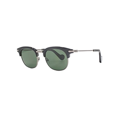 MONCLER Unisex Adults' ML0036 01N 49 Sunglasses, Black (Nero Lucido/Verde)
