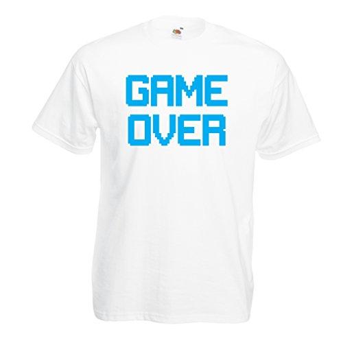Männer T-Shirt Spiel über lustige Gamergeschenke (XXXX-Large Weiß (Kostüm Für Kinder Ideen Geek)