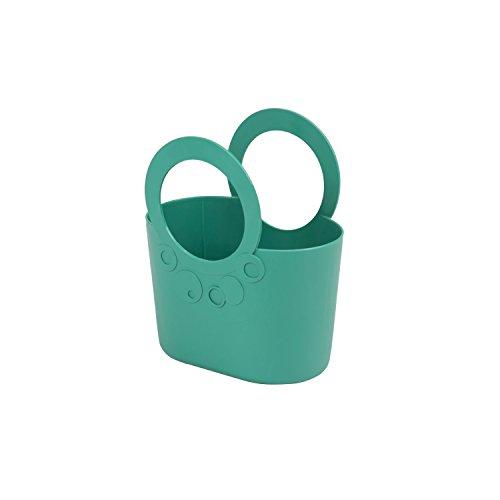 kleine moderne Handtasche 2,2 L türkis Size S Griffe Lily Kosmetiktasche Basket