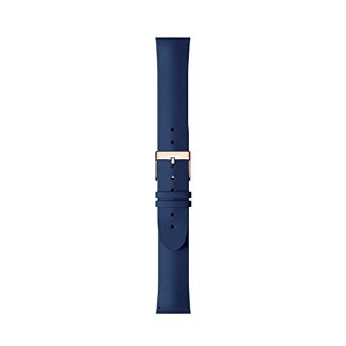 Nokia health Erwachsene Lederarmband, Blue, 18 mm