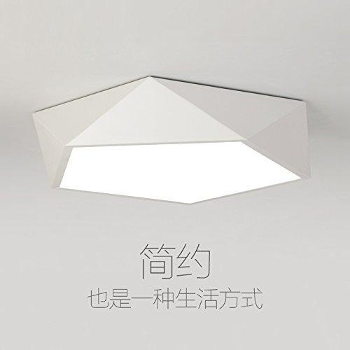 Unbekannt HBA Deckenleuchten Leuchte Deckenleuchte LED für Schlafzimmer Küche Flur Wohnzimmer Badezimmer Esszimmer Geometrie 52cm Schwarz LED