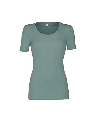 Dilling Merino Halbarmhemd für Damen - 100% Merinowolle Hellgrün 38 - Gefärbtes T-shirt