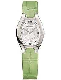 Ebel Women's Green Leather Band Steel Case Swiss Quartz MOP Dial Watch 1216206