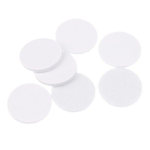 MagiDeal 50pcs Runde Form Selbstklebend Felt Pads Filz Pads für Möbel Floor Protector Weiß