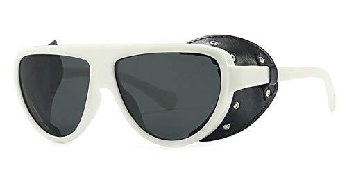 Kuletieas retro polarized sunglasses side shields braun schwarz 2019 frauen sonnenbrille für männer polarisiert uv400 fahren geschenkartikel @ weiß mit schwarzem gold