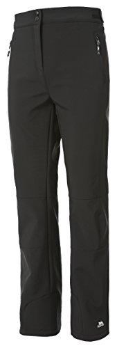 Trespass Squidge II, Black, XL, Wasserdichte Softshellhose für Damen, X-Large, Schwarz - Wasserdichte Cargo