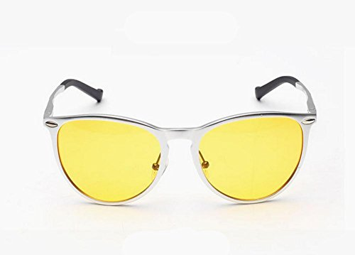 GZD Lunettes de soleil en aluminium-magnésium de qualité supérieure et en polarisation féminine Yellow