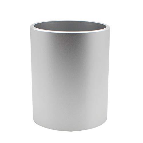 Zoohot lega di alluminio portapenne accessori da scrivania e organizzatore di trucco - argento