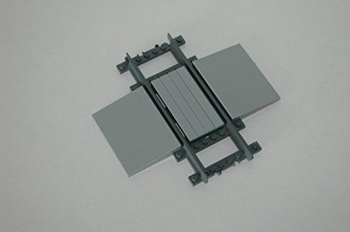 Gebrauchte Bausteine Ersatz für Lego System Lego RC Eisenbahn Train Bahnübergang Überquerung Level Crossing Tracks KOMPATIBEL MIT Lego RC System (Lego Bahnübergang)