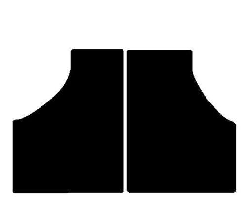 Preisvergleich Produktbild JDM Abaca Aloes Albesia Fußmatten Schwarz für Minicar, Komplettset in Teppichboden schwarz