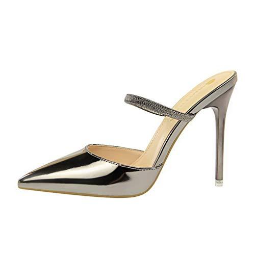 Damen-Pumps mit spitz zulaufendem Absatz und Stöckelabsatz am Abend Party-Basic-Schuhe