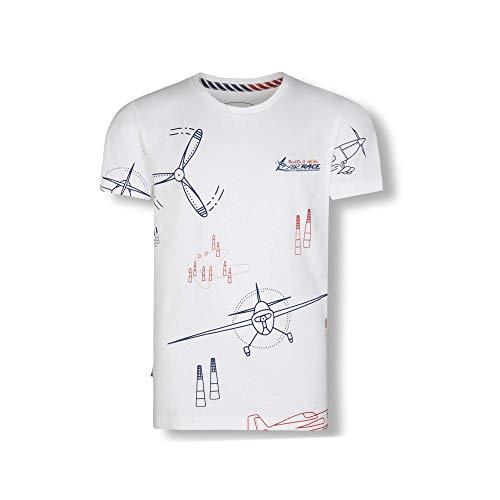 Red Bull Air Race Propeller T-Shirt, Weiß Youth Größe 140 T-Shirt, Air Race Original Bekleidung & Merchandise -