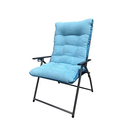 Fzw Chaise pliante en alliage ferro (Couleur : Bleu, taille : 70 * 70 * 100cm)