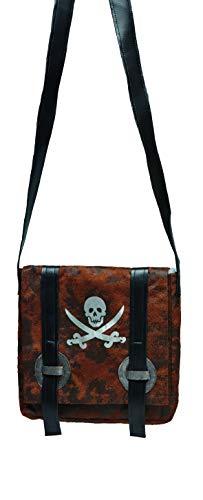 Rubie\'s Piraten Handtasche Skull braun Einheitsgröße