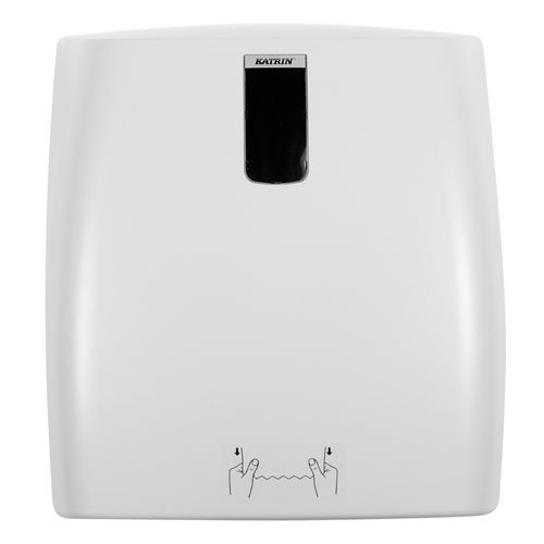 Katrin ahk300System Kunststoff Handtuch Rolle Spender, 370mm H x 340mm W x 230mm D, grau