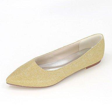 Wuyulunbi @ Chaussures Pour Femmes Glitter Étincelant Printemps Été Ballerine Flats Plat Bout Pointu Pour Fête De Mariage & Soirée Marron Noir Argent Rouge Bleu Us5 / Eu35 / Uk3 / Cn34