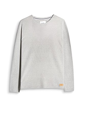 edc by ESPRIT Herren Pullover Grau (Light Grey 040)