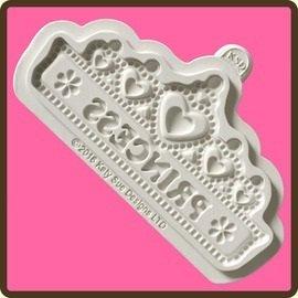 Design Matte Kuchen Zuckerguss Craft Verzierung Form–Prinzessin Tiara Banner