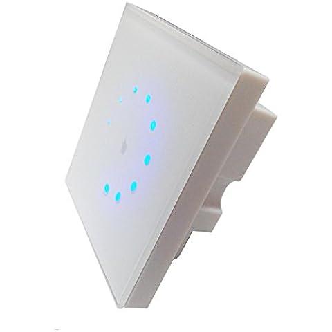 Liqoo® Regulador de Luz Sensible al Tacto Panel Táctil 256 Grados Cotrolador de Brillo para Regunable Bombillas LED Halógenas y Incandescentes DC12V-24V