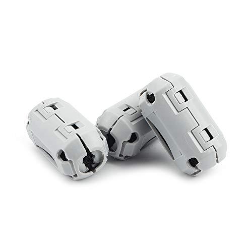 FYSETC 3D-Drucker 1,75 Filament-Filter, Reinigungsblock, feuerfester Gummi-Schaum, abgewischt von Schmutz für PLA, ABS, PETG oder andere Druckfilamente, Grau, 3 Stück -