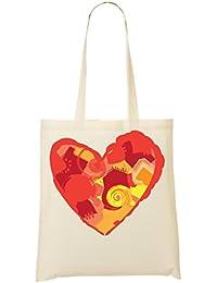 Hearts Flower Theme Beautiful Bolso De Mano Bolsa De La Compra