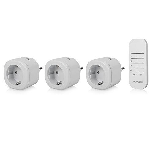 Smartwares SH4-99553 Funk Mini-Steckdosen-Set, Weiß (Home-lautsprecher-drahtlos Ich)