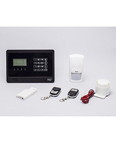 KIT M2E Antifurto Allarme Casa Kit Wireless Senza Fili Controllabile da Cellulare con App Gratuita. Menù con Sintesi Vocale in Italiano – Manuale in Italiano