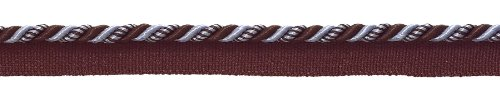 Mokka Cord (Klein Braun, Hellblau Barock Collection 3/40,6cm Cord mit Lippe Stil # 0316bl Farbe: Mokka Eis–24B (Verkauft von der Hof))
