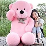 #6: Click4Deal Hugable Soft 5 Feet Long Huge Pink Teddy Bear - 152Cm