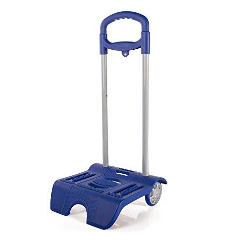SKPAT - Carrito Escolar. Carro Porta Mochilas Trolley con Ruedas PVC. Adaptable a Cualquier Mochila. Muy Ligero Práctico y Resistente. Colegio Escuela 1015, Color Azulon