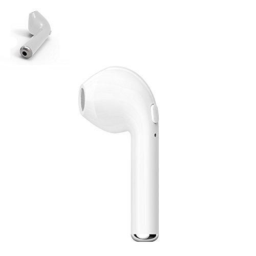 Gzmy Auricular inalámbrico de Apple auricular cabeza de teléfono para el iPhone 7 7 más 6s 6s más y Samsung Galaxy S7 S8 y teléfonos Android, auricular inalámbrico con altavoz (1PCS, Izquierda)