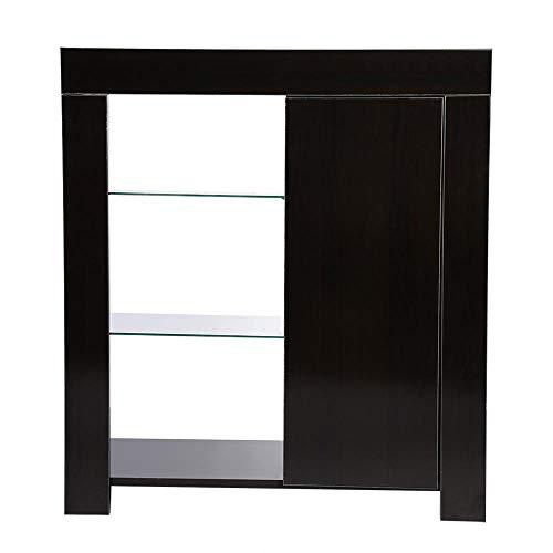 Vetrina per Soggiorno, armadietto Moderno a 3 Ripiani, con Strisce LED  RGBW, per Soggiorno