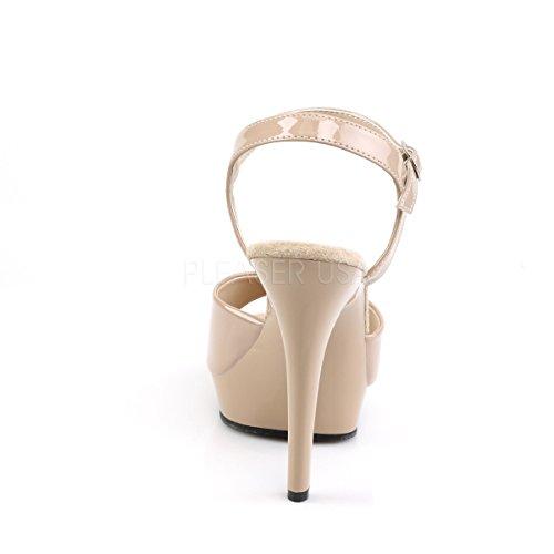 Higher-Heels , Bride cheville femme Beige - Lack nude