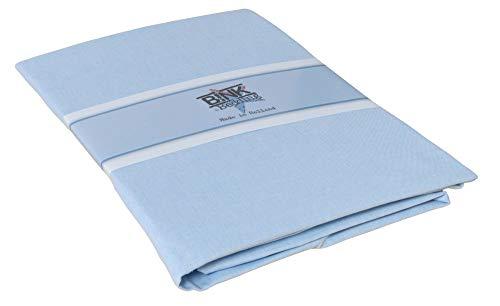 Bink Bedding Spannbettlaken 90x200 cm, Farbe:Chambray Blau (Grau Chambray Bettwäsche)