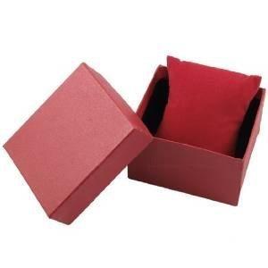 Fat-catz Geschenkboxen für Schmuck, Armband, Ringe, Halsketten, gepolstert, 8,5 x 8 x 5 cm, Rot, 10 Stück